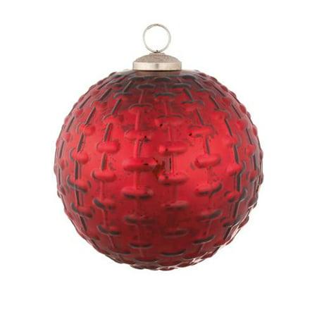 Midwest Cbk Red Brick Kugel Christmas Ornament Glass Walmart Com