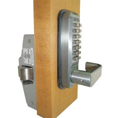 Lockey USA 285-P Medium Duty Lever w/ Passage Function and Keyless Panic Trim 285-P-BB (Passage Lever Exterior Trim)