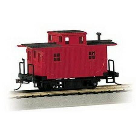 Bachmann 18449 HO Unlettered Wood 4-Wheel Bobber Caboose (Red)