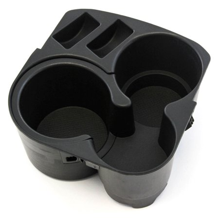 Cup Holder w Insert Center Console Black Plastic 2007-2012 Compatible with Nissan (Console Cup Holder Insert)