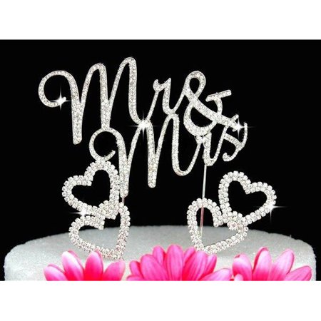 Cheap Wedding Cake Toppers (Crystal Cake Toppers Mr and Mrs Wedding Cake Toppers with)