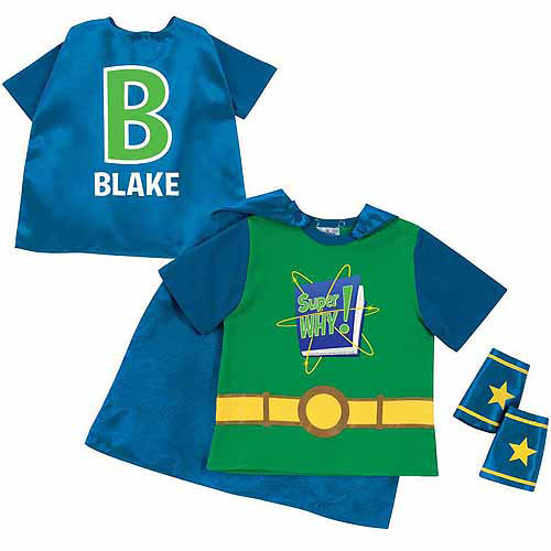 Personalized Super Why! Logo and Letter Toddler Boy Green Super Tee and Cuff Set