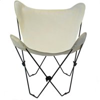 Butterfly Chair, Natural Cover and Black Frame