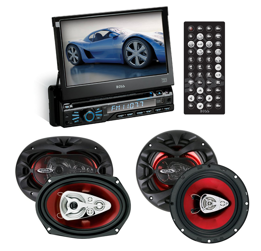"""""""Boss Audio BV9967B - 1-DIN In-Dash DVD/CD Receiver with 7"""""""""""""""" LCD &"""