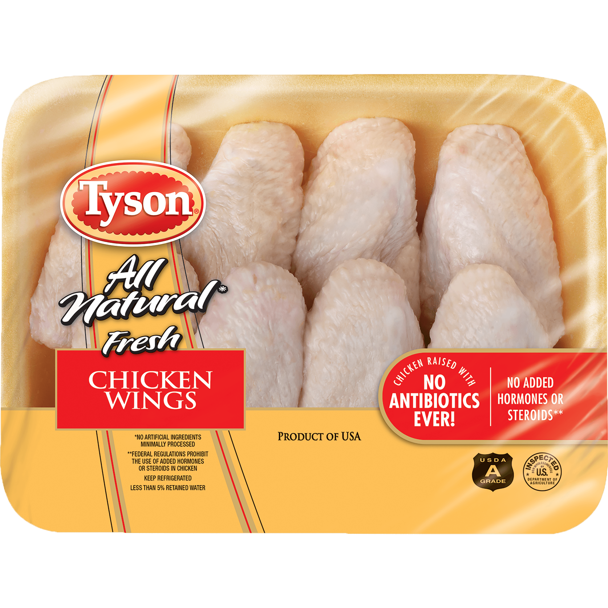 Tyson® All Natural Fresh Chicken Wing Sections, 1.5-2.2 lb