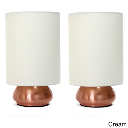 Mini Set Up Lamp Bases (Clay Alder Home  Roseman Mini Lamp with Touch Base and Fabric Shade (Set of)