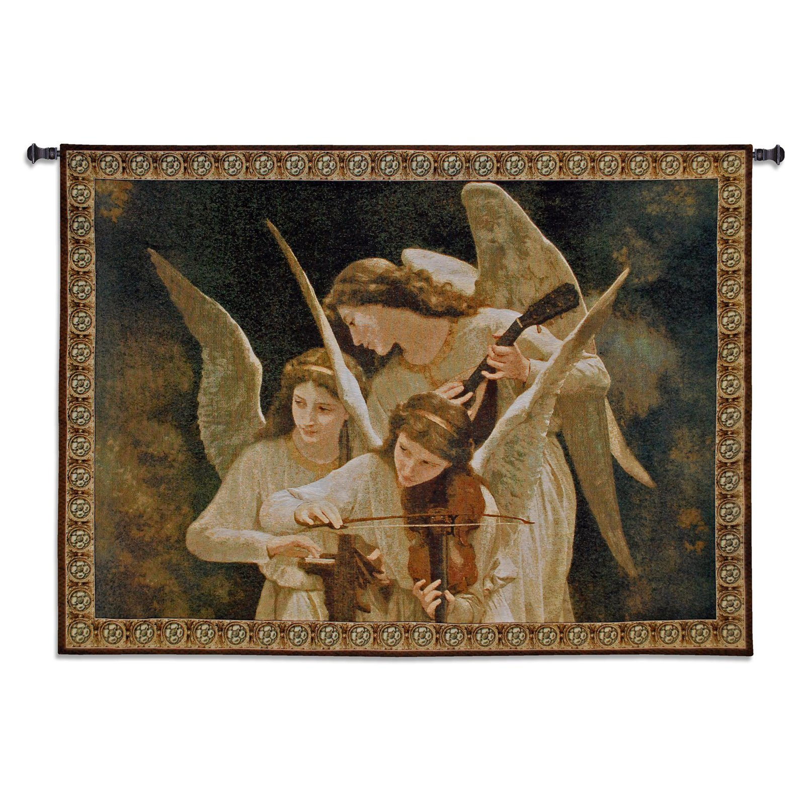 Fine Art Tapestries Angels Playing Violin Wall Tapestry by Supplier Generic