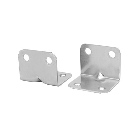 Unique Bargains25mmx25mmx31mm Stainless Steel Right Angle Brackets Holder Silver Tone 20pcs - image 2 of 3