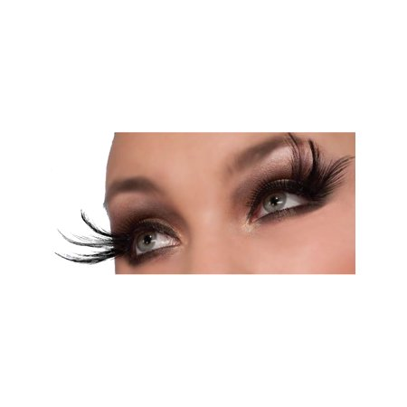 Women's  Black Peacock Costume Eyelashes With Long Ends - Halloween Peacock