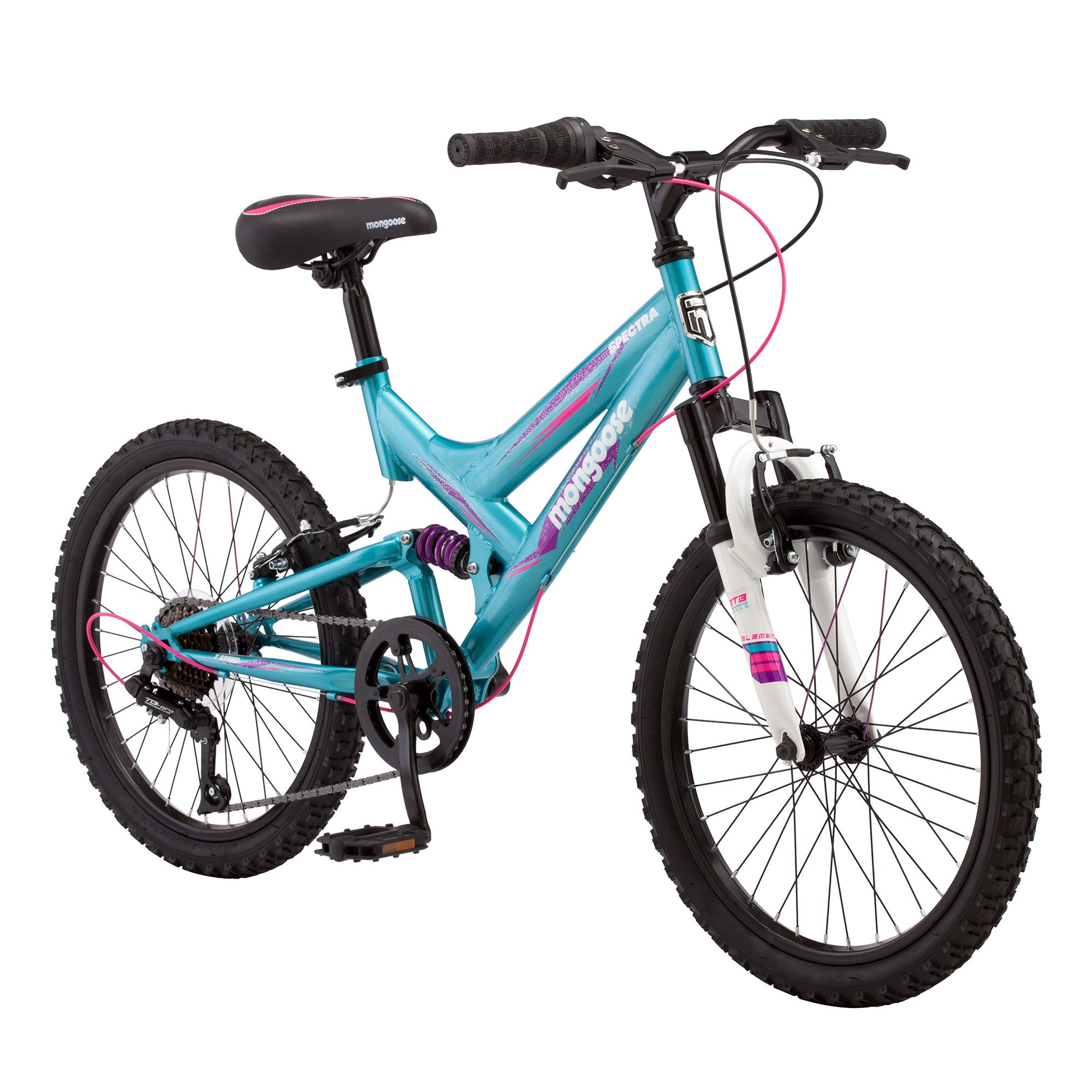 "Mongoose Spectra 20"" 7 Speed Steel Frame Youth Mountain B..."