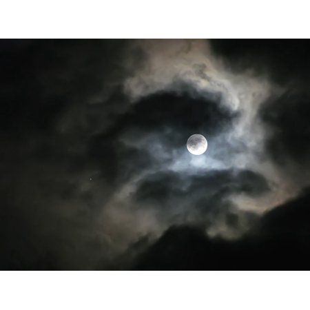 LAMINATED POSTER Moon Clouds Moonlight Sky Light Night Dark Poster Print 24 x