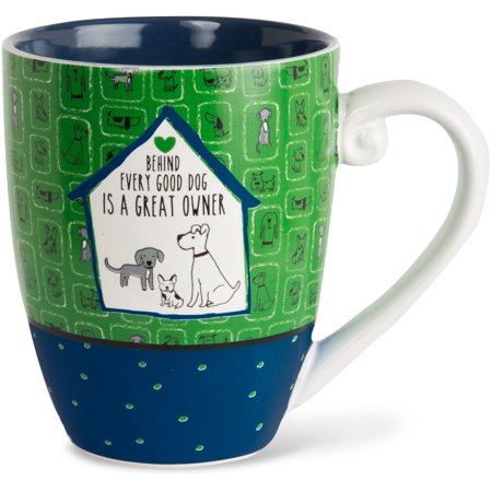Pavilion - Behind Every Good Dog is a Great Owner High Quality Ceramic Extra Large Coffee Mug Tea Cup 20 oz ()