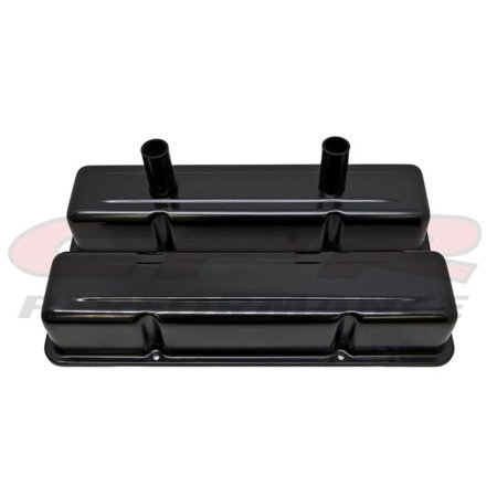 CFR HZ-8215-PBK Aluminum Stamped Tall Valve Covers Chevy Small Block Circle Track 283- 400 - Anodized Black