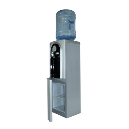 LLECNED Water Dispenser, Top Load Hot/Cold, High Quality Deluxe Stainless Steel Black w/compact storage