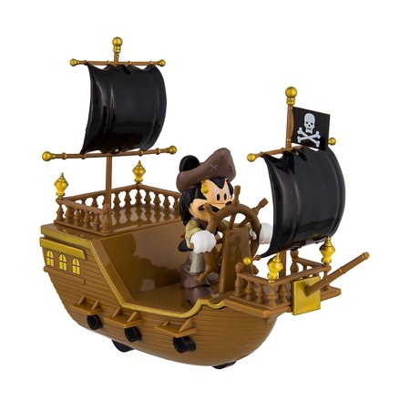 Disney Parks Pirates of the Caribbean Mickey Pullback Pirate Ship Toy (Parts Of A Pirate Ship For Children)