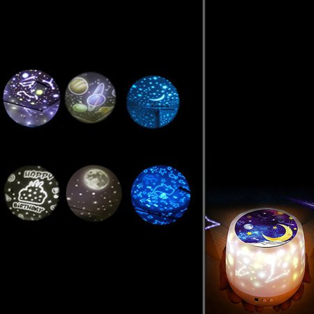 Starry Fantasy Projection Lamp Romantic Birthday Gift Lamp Colorful Spiral - image 4 of 7