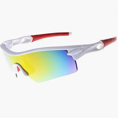 SUNGLASSES - RED POLARIZED SPORT SUNGLASSES SPORTS STYLE CYCLING BIKE RIDING FISHING GOLFING DRIVING BASEBALL REFLECTIVE SHADES