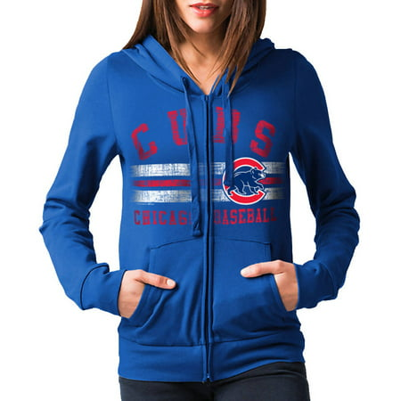 Mlb Chicago Cubs Womens Fleece Zip Up Graphic Hoodie