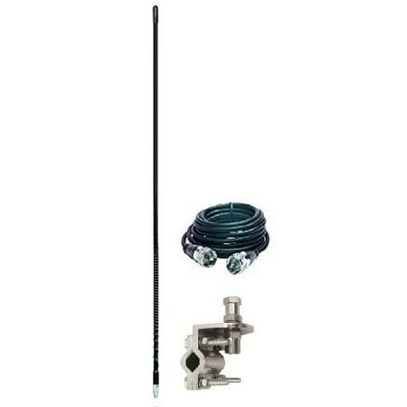 ARIES 10804 2` FOOT 500 WATT CB RADIO ANTENNA KIT W