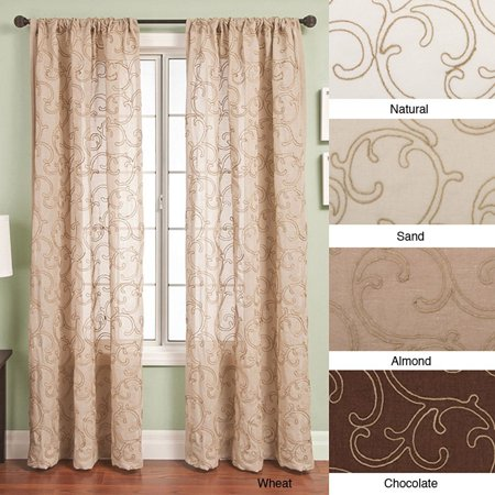 Softline  Santiago Rod Pocket 108-inch Curtain Panel - 55 x 108