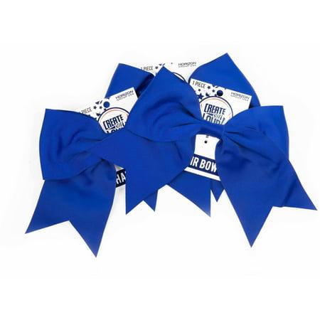 Horizon Group USA Create Out Loud Blue Grosgrain Hair Bow, 3pk - First Communion Hair Bows