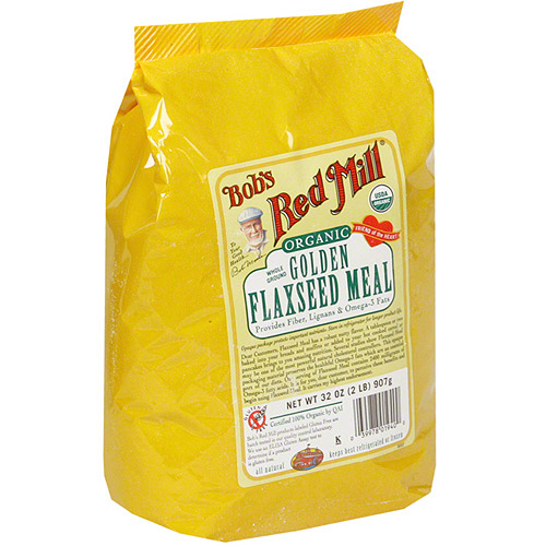 Bob's Red Mill Organic Golden Whole Ground Flaxseed Meal, 32 oz (Pack of 4)
