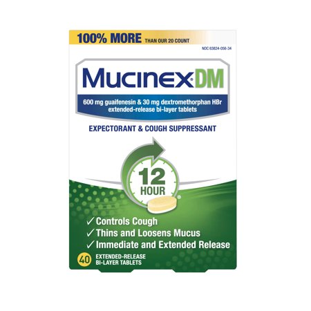Mucinex DM 12 Hr Expectorant & Cough Suppressant Tablets, 40ct](Halloween Make Up Dm)