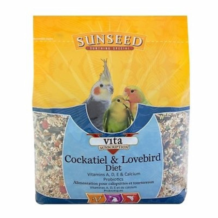 Sunseed Vita Cockatiel And Lovebird Diet 5 Lb