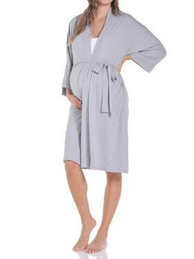 Beachcoco Women's Maternity Robe for Delivery and Nursing