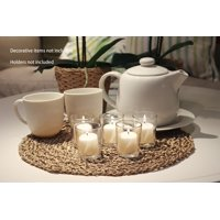 Mainstays Unscented Votive Candles with Holders, White, 12-Pack