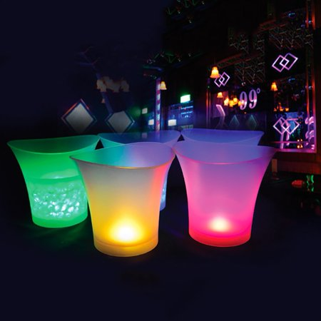 Supersellers LED Colorful Light Ice Bucket Champagne Wine Drinks Beer Ice Cooler Bar Party