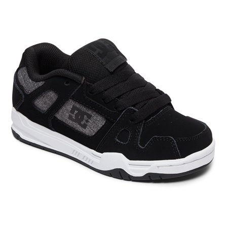 DC Stag Boys Shoes ADBS100024-BGY: BLACK/GREY - Size 4M Dc Kids Shoes