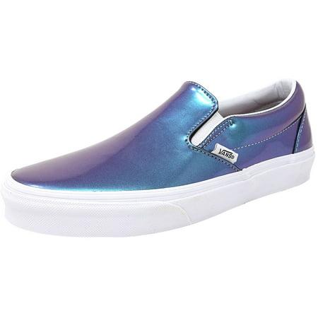 e15f77805663b9 Vans - Vans Classic Slip-On Patent Leather Blue Ankle-High Shoes - 8.5M    7M - Walmart.com