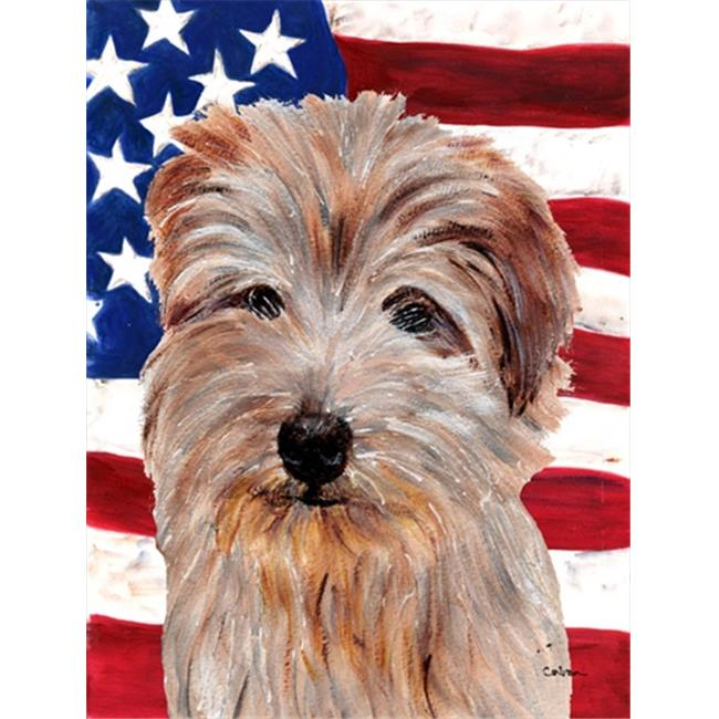 Norfolk Terrier with American Flag USA Flag Garden Size - image 1 of 1