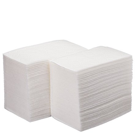 Luxury Linen Feel Disposable Guest Hand Towels in Bulk, Soft & Absorbent Cloth Like Paper Napkin for Bathroom, Kitchen, Weddings, Parties, Dinners or Events, White 100 Count by eDayDeal (200) (Linen Like Napkin)
