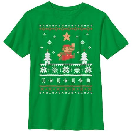 Nintendo Boys' Mario Ugly Christmas Sweater (Gymboree Boys Sweater)