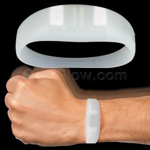 AC935 LED Light Up Motion Activated Wristband - White, By Fun Central - Light Up Wristband