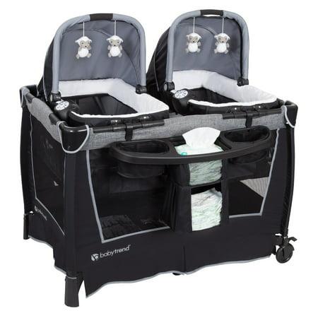 Baby Trend Nursery - Baby Trend Retreat Twins Nursery Center - Quarry