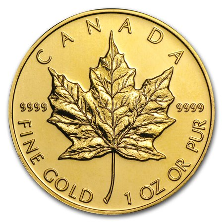 Canada 1 Oz Gold Maple Leaf 9999 Fine Random Year