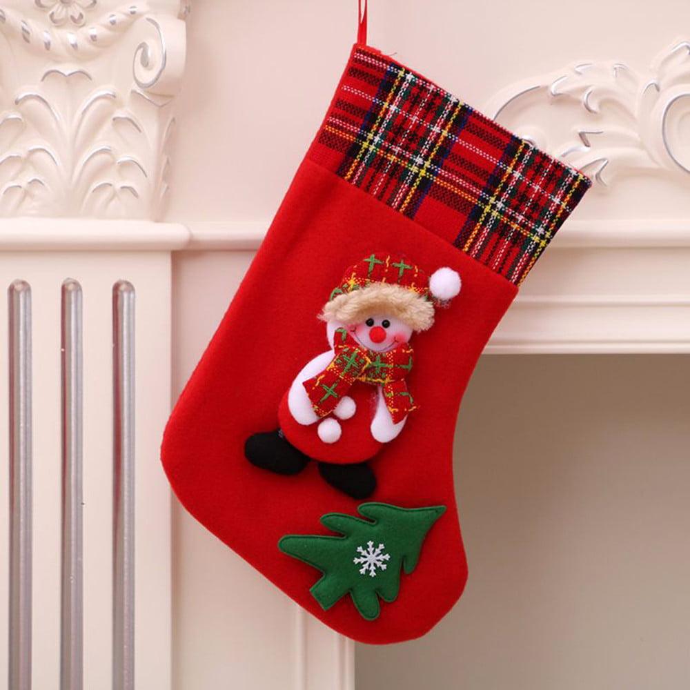 Christmas Decorations New Year Gifts Santa Snowman Socks ...