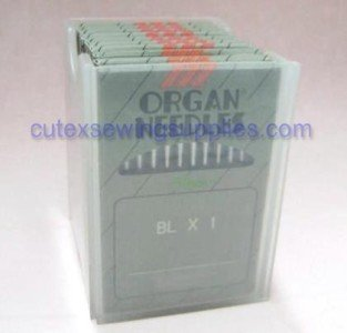 100 ORGAN BLX1 Portable Serger Needles For Babylock Bernette - Size 9 (metric 65)
