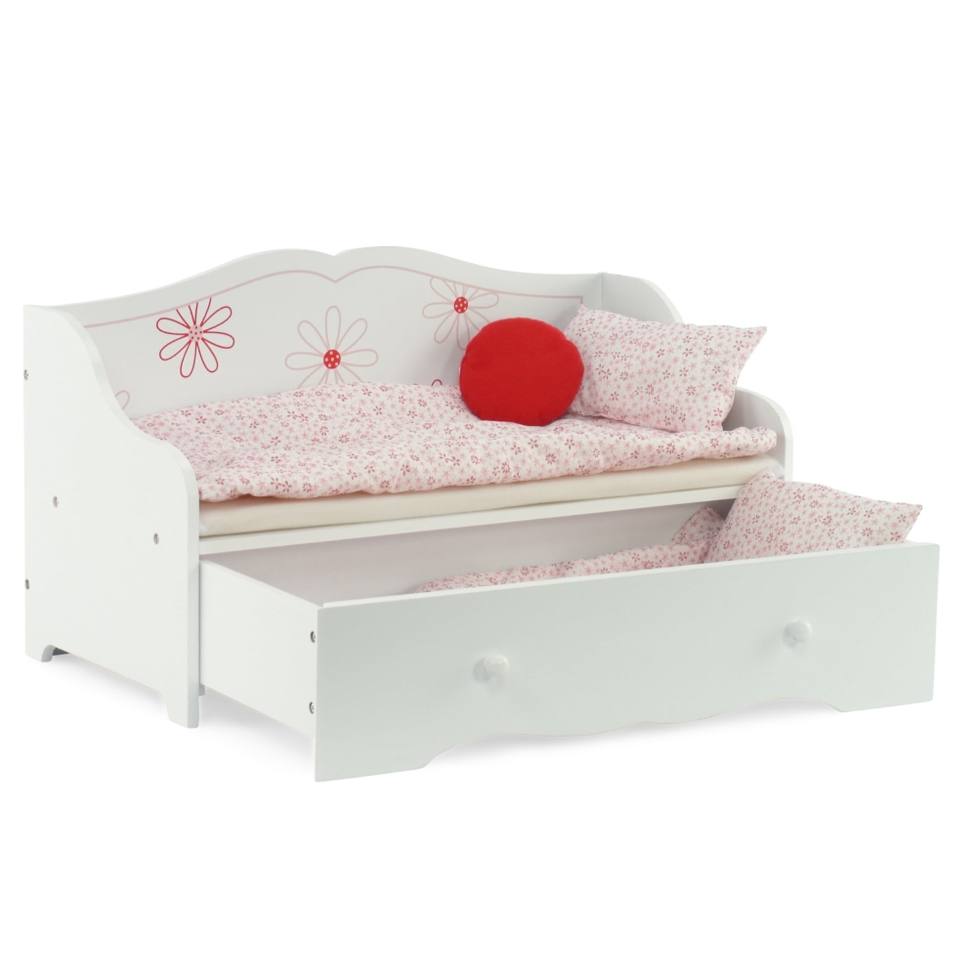 Daybed And Trundle Fits American Girl Dolls Stylish Floral 18