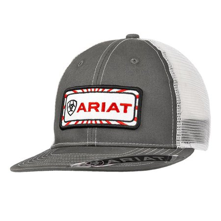 Ariat 1518306 Mens Center Patch Ball Cap, Gray - image 1 of 1