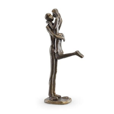 Yoga Bronze Sculpture (Danya B. Passionate Kiss Bronze)