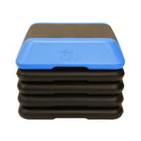 The Step High Step Aerobic Platform with High Step Blue Aerobic Platform and 4 Black Risers