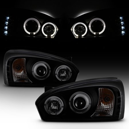 - Fits Black Smoked 2004-08 Chevy Malibu Halo Projector LED Headlights Left+Right