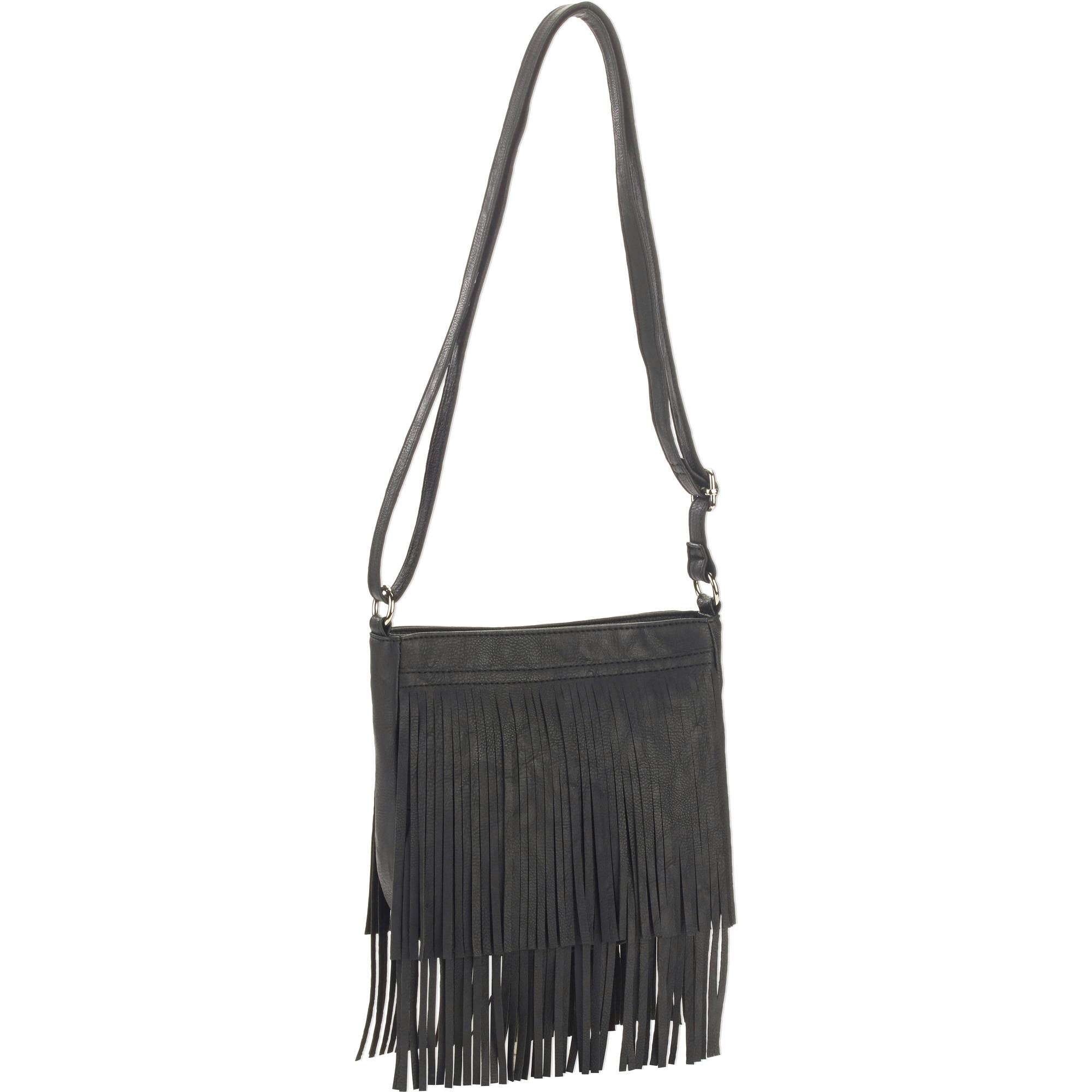 No Boundaries Women's Fringe Crossbody Handbag