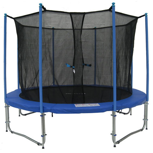 ExacMe 10-Foot Trampoline, with Safety Enclosure and Ladder, Blue (Box 2 of 2)