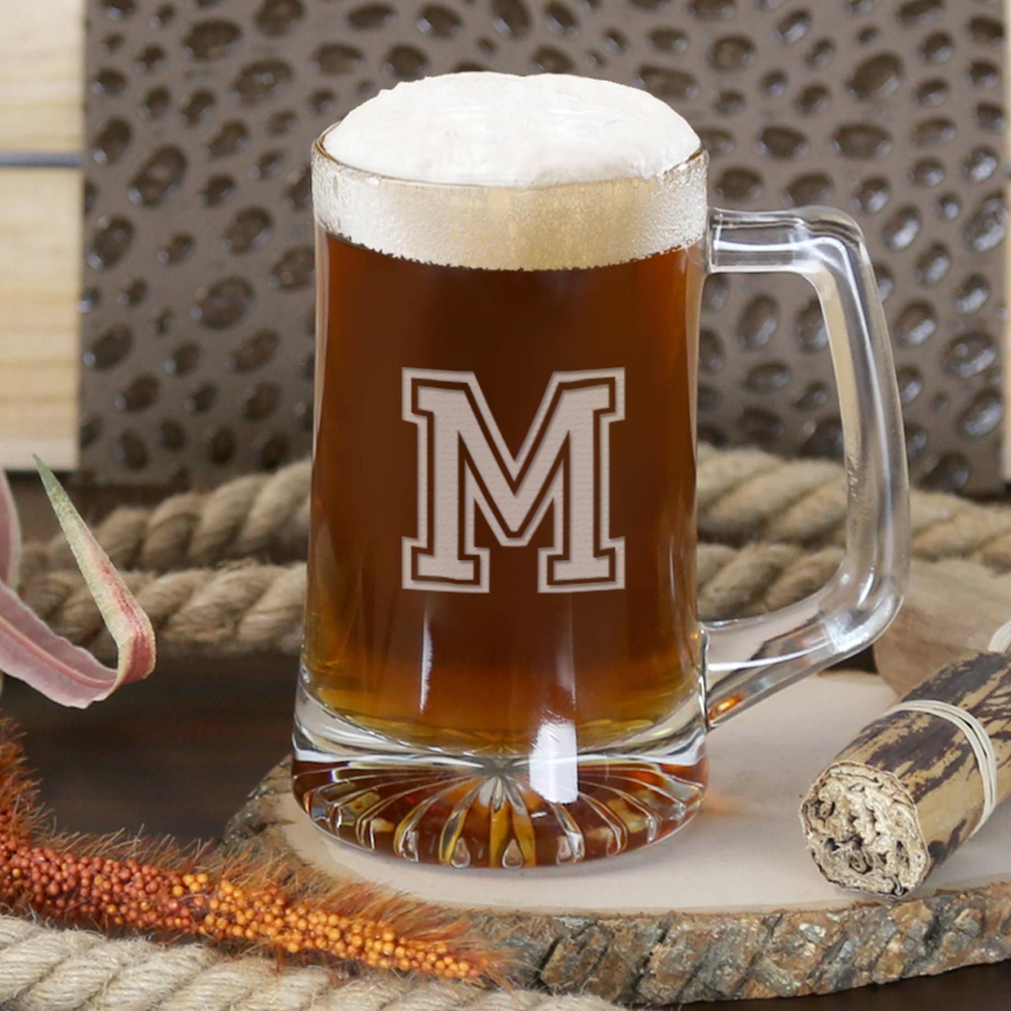 Personalized Initial Beer Mug 15 Oz