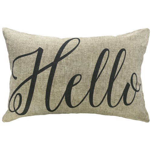 Grovelane Teen Alicia Hello Linen Lumbar Pillow